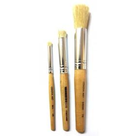 3'lü Stencil Fırça Seti