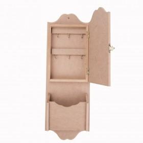 Kapalı Uzun Anahtarlık 50x17cm Ahşap Obje