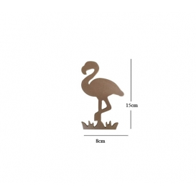 Flamingo minik 15x8cm Ahşap Obje