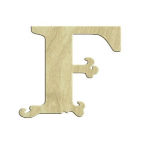 7cm Lazer Kesim Harf F