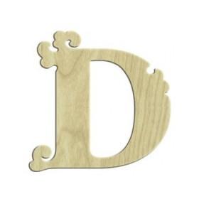 7cm Lazer Kesim Harf D
