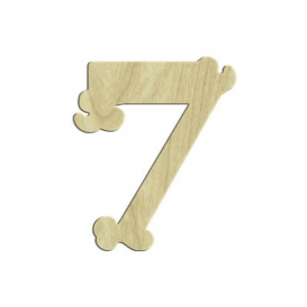 7cm Lazer Kesim Rakam 7