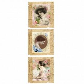 Artebella MixArt Kolay Transfer 10x25cm Koyu Zemin 6154