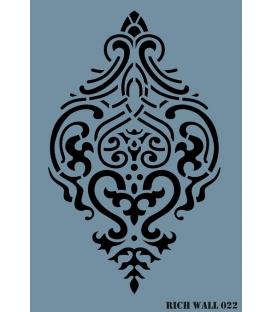 Rich Wall Decor Stencil 50x73cm - 022