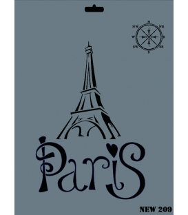 Rich New Seri N-209 Paris Eyfel Stencil 35x25cm