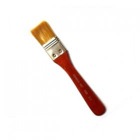 Cenova Art 508 Kırmızı Kısa Sap Zemin Fırçası 2,5cm