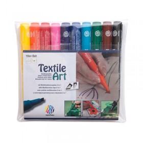 Nerchau Textil Art Kesik Uçlu Kumaş Boyama Kalemi 10'lu SET
