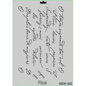 Rich New Seri N-302 Mektup Yazı Stencil 35x25cm