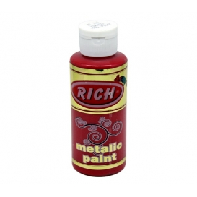 Rich 746 Metalik Kırmızı 130 ml Metalik Ahşap Boyası