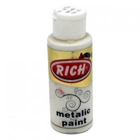 Rich 731 Metalik Beyaz 70 ml Metalik Ahşap Boyası