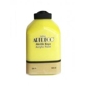 Artdeco 500ml 3627 Limon Sarı Akrilik Boya