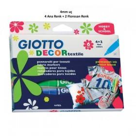 Giotto Decor Textile Kumaş Boyama Kalemi 6'lı Set