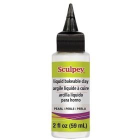 İnci Rengi Sıvı Polimer Kili - Pearl Liquid Sculpey 59ml