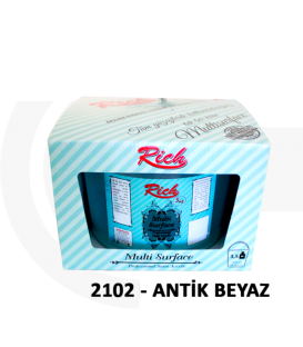 Rich Multi Surface Akrilik 2500cc (3,5kg) - 2102 antik BEYAZ