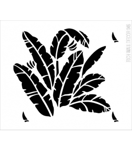 Rich Wall Decor Stencil 50X55cm- 046
