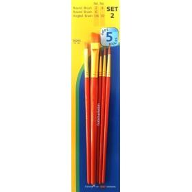 Fanart Academy Sentetik Fırça Seti 5'li SET-2