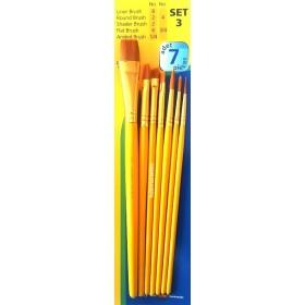 Fanart Academy Sentetik Fırça Seti 7'li SET-3