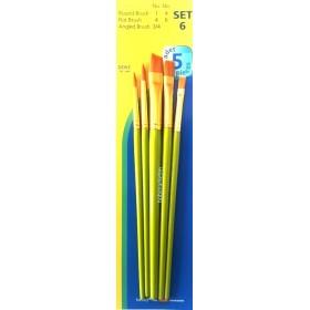 Fanart Academy Sentetik Fırça Seti 5'li SET-6