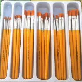 Fanart Academy Yassı DüzUç Fırça Seti 48'li Paket SET