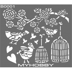 MyHobby Stencil Şablon 30x30cm B0001
