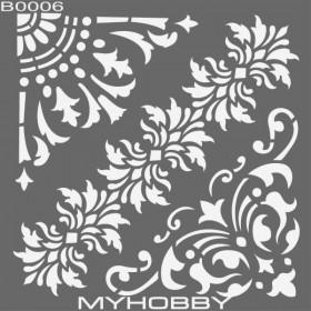 MyHobby Stencil Şablon 30x30cm B0006