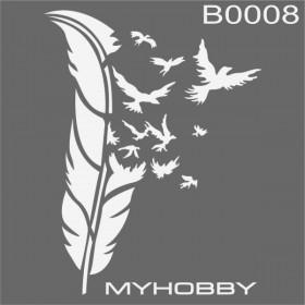MyHobby Stencil Şablon 30x30cm B0008