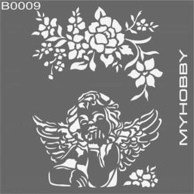 MyHobby Stencil Şablon 30x30cm B0009
