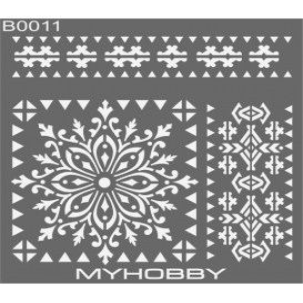 MyHobby Stencil Şablon 30x30cm B0011