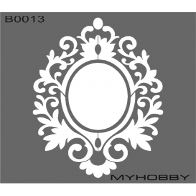MyHobby Stencil Şablon 30x30cm B0013