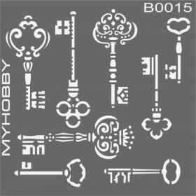 MyHobby Stencil Şablon 30x30cm B0015