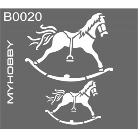MyHobby Stencil Şablon 30x30cm B0020
