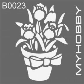 MyHobby Stencil Şablon 30x30cm B0023