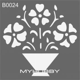MyHobby Stencil Şablon 30x30cm B0024