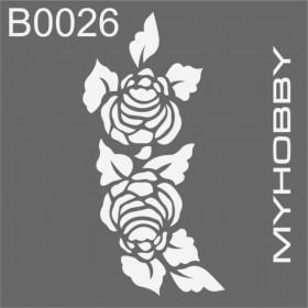 MyHobby Stencil Şablon 30x30cm B0026