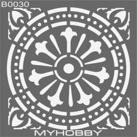 MyHobby Stencil Şablon 30x30cm B0030