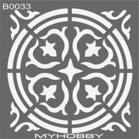 MyHobby Stencil Şablon 30x30cm B0033