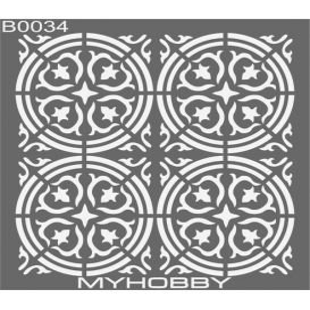 MyHobby Stencil Şablon 30x30cm B0034