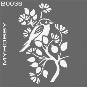 MyHobby Stencil Şablon 30x30cm B0036