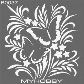 MyHobby Stencil Şablon 30x30cm B0037