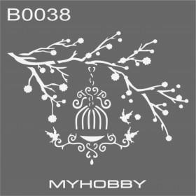 MyHobby Stencil Şablon 30x30cm B0038