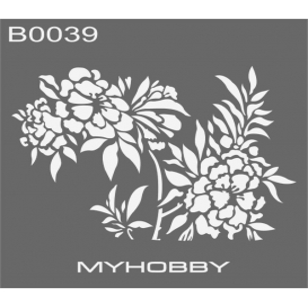 MyHobby Stencil Şablon 30x30cm B0039