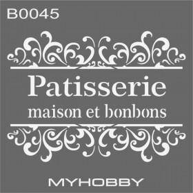 MyHobby Stencil Şablon 30x30cm B0045