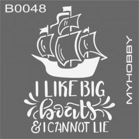 MyHobby Stencil Şablon 30x30cm B0048
