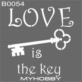 MyHobby Stencil Şablon 30x30cm B0054