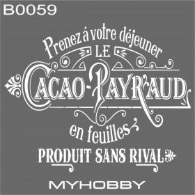 MyHobby Stencil Şablon 30x30cm B0059