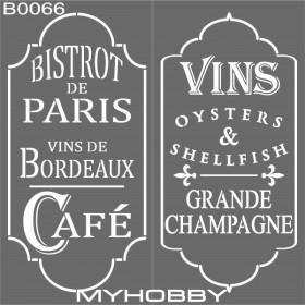 MyHobby Stencil Şablon 30x30cm B0066