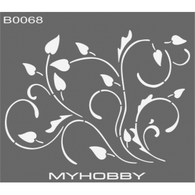 MyHobby Stencil Şablon 30x30cm B0068