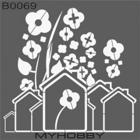 MyHobby Stencil Şablon 30x30cm B0069