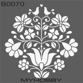 MyHobby Stencil Şablon 30x30cm B0070