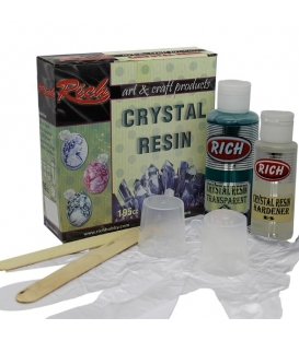 Rich Crystal Resin Epoksi Transparan Turkaz Kristal Reçine Set 195 cc